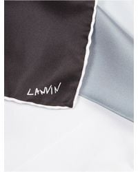 Lanvin | Multicolor Contrasting Pocket Square for Men | Lyst