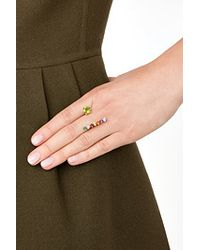 Delfina Delettrez | Metallic 9Kt Yellow Gold Vein Ring With Topaz And Peridot | Lyst