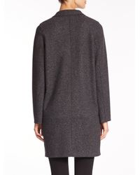Harris Wharf London - Gray Knit Cocoon Coat - Lyst