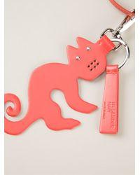Jil Sander Navy | Orange Cat Pendant Necklace | Lyst