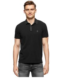 Calvin Klein Jeans | Black Denim Collar Polo for Men | Lyst