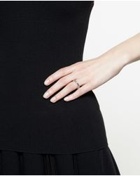 Bijules - Metallic Silver Moonset Ring With Pearls - Lyst