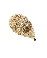 Brooks Brothers | Metallic Hedgehog Brooch | Lyst