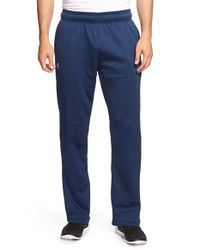 Under Armour | Blue Loose Fit Moisture Wicking Fleece Pants for Men | Lyst