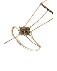 Forever 21 | Metallic Ornate Hand Chain | Lyst