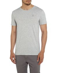 G-Star RAW | Gray Mikan Regular Fit Crew Neck Logo T-shirt for Men | Lyst