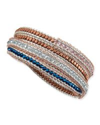 Nakamol - Pink Mixed Bead Wrap Bracelet Lavender - Lyst