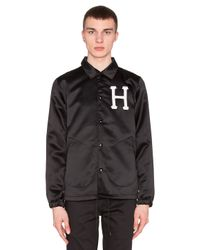 Huf | Black Satin Coaches Jacket for Men | Lyst
