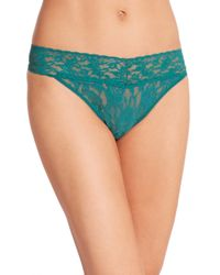 Hanky Panky | Green Signature Lace Original-rise Thong | Lyst