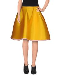 Normaluisa - Yellow Knee Length Skirt - Lyst