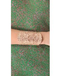Aurelie Bidermann | Pink Vintage Lace Rose Gold-Plated Cuff | Lyst
