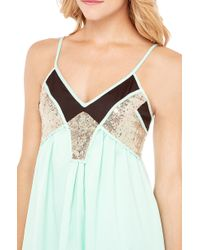 AKIRA | Green Sequin Insert Summer Dress | Lyst
