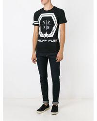 Philipp Plein | Black 'rebellion' T-shirt for Men | Lyst
