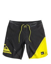 "Quiksilver | Yellow 19"" Ag47 New Wave Bonded Boardshorts for Men 