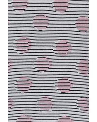 KENZO - Blue Polk Dot Jacquard Pullover - Stripes - Lyst