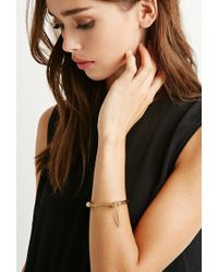 Forever 21 - Metallic Screw Bar Bracelet - Lyst