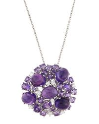 Roberto Coin | Purple 18k Diamond & Amethyst Fantasia Pendant Necklace | Lyst