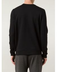 A.P.C. - Black A Embroidered Sweatshirt for Men - Lyst