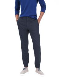 Banana Republic | Blue Aiden Slim Wool-blend Jogger Pant | Lyst