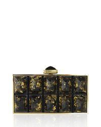 Judith Leiber Couture - Metallic Perfect Rectangle Faceted Clutch Bag - Lyst