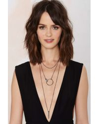 Nasty Gal | Metallic Nightscape Layered Necklace | Lyst