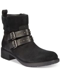Clarks | Black Artisan Women's Swansea Grove Booties | Lyst