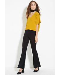 Forever 21 - Yellow Boxy V-neck Top - Lyst