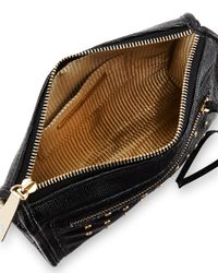 Lauren Merkin - Black Cece Mini Studded Leather Evening Clutch Bag - Lyst