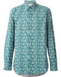 Paul Smith   Green Paisley Print Shirt for Men   Lyst