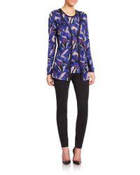 ESCADA - Multicolor Wool Silk Floral Cardigan - Lyst