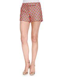 Trina Turk - Red Dot Jacquard Short Shorts - Lyst