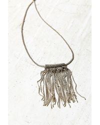 Urban Outfitters - Metallic Harley Fringe Pendant Necklace - Lyst