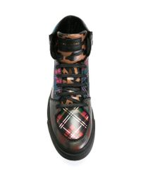Marc Jacobs - Black Panelled Hi-top Sneakers for Men - Lyst