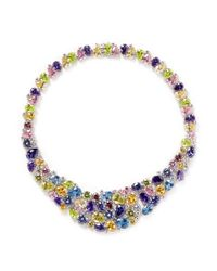 CZ by Kenneth Jay Lane | Multicolor 'musi' Zirconia Gemstone Necklace | Lyst