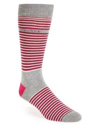Ted Baker - Gray Stripe Socks for Men - Lyst