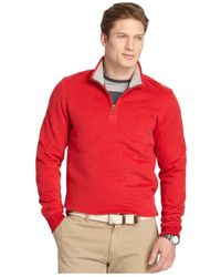 Izod - Red Quarter-zip Fleece Pullover for Men - Lyst