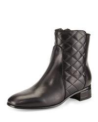 Aquatalia - Black Latifa Quilted Ankle Boot - Lyst