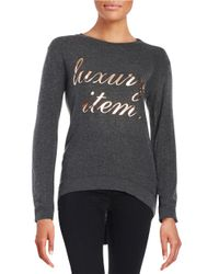 Signorelli - Gray Hi-lo Graphic Top - Lyst