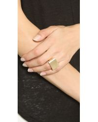 Elizabeth and James - Metallic De Maria Ring - Gold - Lyst