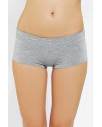 Urban Outfitters - Gray Make It Girly Boyshort - Lyst