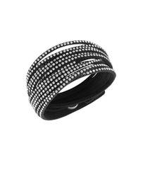 Swarovski | Slake Crystal Black Wrap Bracelet | Lyst