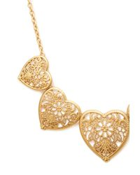Forever 21 | Metallic Heart Filigree Bib Necklace | Lyst