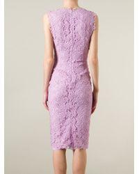 Ermanno Scervino   Pink Floral Lace Long Dress   Lyst
