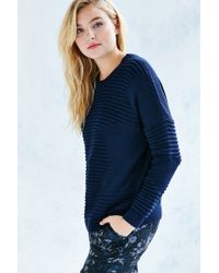 Silence + Noise | Blue Rib Stitch Pullover Sweater | Lyst