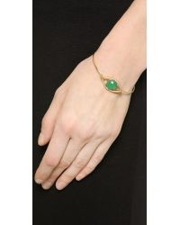 Tai - Green Eye Stone Bracelet - Gold/Jet - Lyst