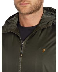 Farah - Green Rydal Lightweight Hooded Jacket for Men - Lyst