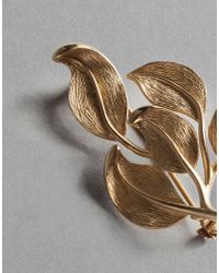 Dolce & Gabbana - Metallic Leaves Brooch - Lyst