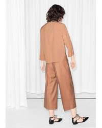 & Other Stories | Brown Diagonal Split Detail Blouse | Lyst
