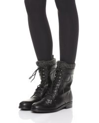 Belle By Sigerson Morrison - Black Gretchen Lace Up Boots - Lyst
