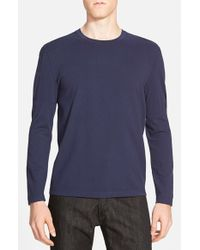 Theory | Blue 'brettos' Trim Fit Crewneck Sweater for Men | Lyst